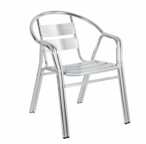 Стол от алуминий с двойни подлакътници