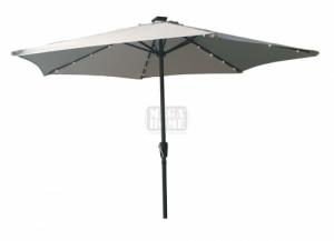 Градински чадър с LED лампи ф 270 см