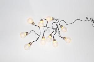 Соларен гирлянд с топла бяла светлина 5 см