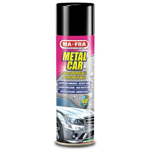 Защитна вакса- полир спрей за боя металик Metal car 500 мл 24 pz