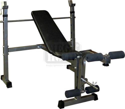 Комбинирана лежанка за вдигане на тежести Maxima до 220 кг