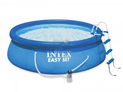 Надуваем басейн с филтърна помпа Intex 457х107см.