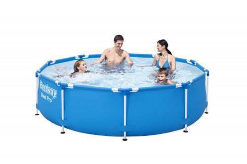 Сглобяем басейн с метална рамка Bestway 305 х 76 см.