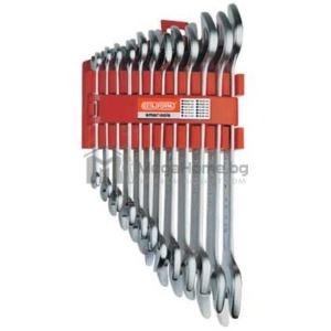 Комплект гаечни ключове Ceta-Form, 12 бр. размери 6-32мм в клипс