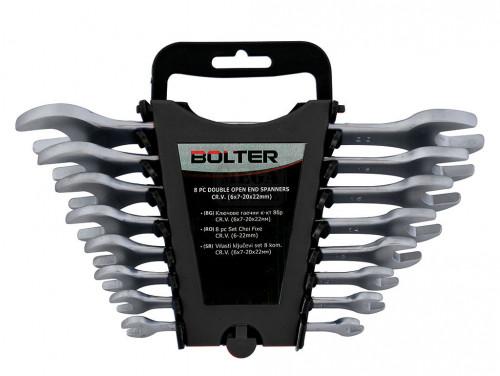 Комплект гаечни ключове матирани Bolter CR.V. DIN 3113 8 броя