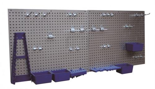 Метална стена за инструменти Profi+ 34 части