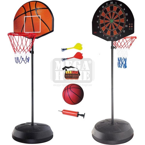 Баскетболно табло с дартс Maxima двустранно
