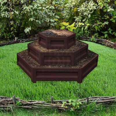 Цветарник Primaterra на три нива Шоколад
