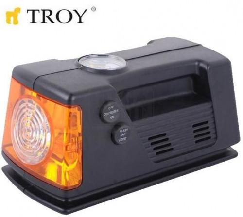 Компресор за гуми с манометър TROY 12V