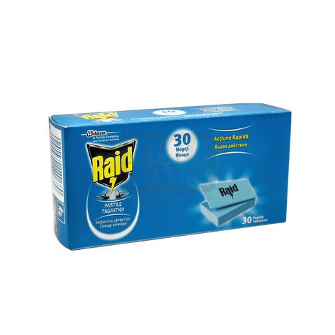 Таблетки срещу комари за електрически изпарител Raid