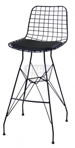 Метален бар стол мрежа с възглавница HORECANO