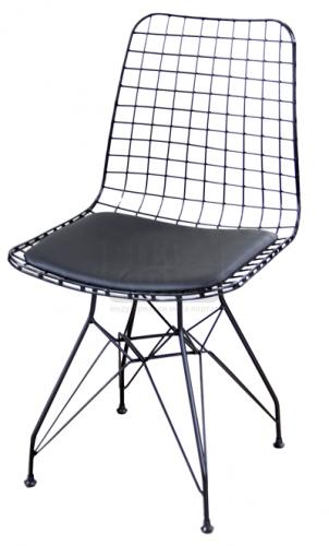 Метален стол мрежа с възглавница HORECANO