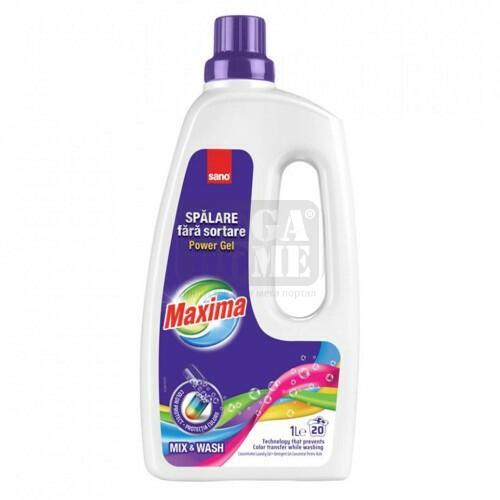 Гел за пране SANO MAXIMA MIX&WASH 1 л.
