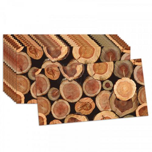 Топлоизолационно пано ''Дървени трупи'' 30 x 60 x 1.5 см.