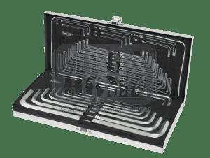 Шестограми комплект Top Master CR-V TMP 23бр, в метална кутия