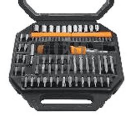 Отвертка с накрайници и вложки, комплект 81 части GD