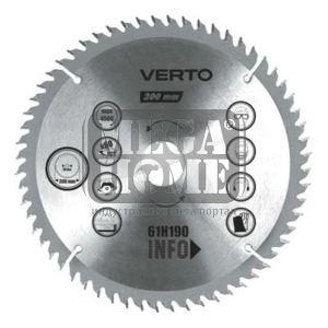 Диск за рязане на алуминий 200x30мм 60Т Verto