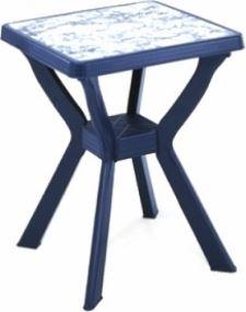 синя с декоративен плот мрамор
